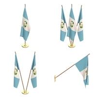 Guatemala Flag Pack 3D Model