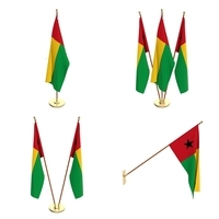 Guinea Bissau Flag Pack 3D Model