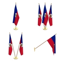 Haiti Flag Pack 3D Model