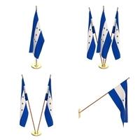 Honduras Flag Pack 3D Model