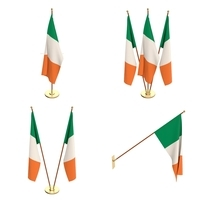 Ireland Flag Pack 3D Model