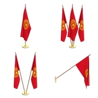 Kyrgyzstan Flag Pack 3D Model