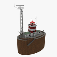 Light House Drogden 3D Model