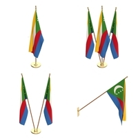 Comoros Flag Pack 3D Model