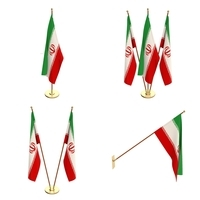 Iran Flag Pack 3D Model