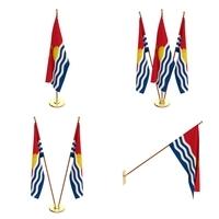 Kiribati Flag Pack 3D Model