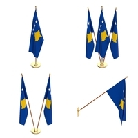 Kosovo Flag Pack 3D Model