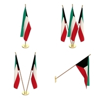 Kuwait Flag Pack 3D Model