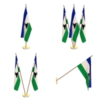 Lesotho Flag Pack 3D Model