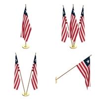 Liberia Flag Pack 3D Model