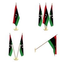 Libya Flag Pack 3D Model