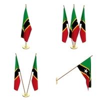 Saint Kitts And Nevis Flag Pack 3D Model