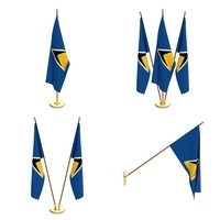 Saint Lucia Flag Pack 3D Model