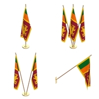 Sir Lanka Flag Pack 3D Model
