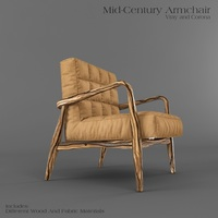 Mid-Century ArmChair 3D Model