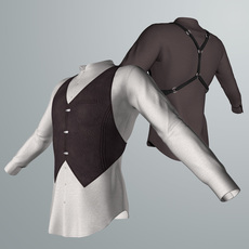 Shirt and Vest 3D Model