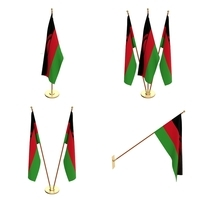 Malawi Flag Pack 3D Model