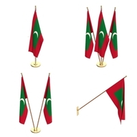 Maldives Flag Pack 3D Model
