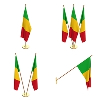 Mali Flag Pack 3D Model