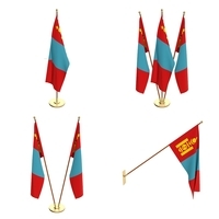 Mongolia Flag Pack 3D Model
