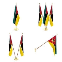 Mozambique Flag Pack 3D Model