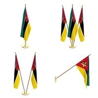Mozambique Flag Pack 3D Model