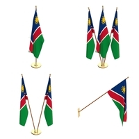 Namibia Flag Pack 3D Model