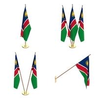 Namibia Flag Pack 3D Model