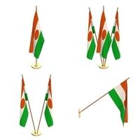Niger Flag Pack 3D Model