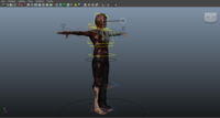 Zombie Character Rig 0.0.2 for Maya