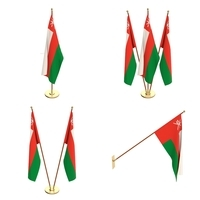 Oman Flag Pack 3D Model