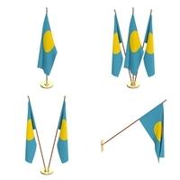 Palau Flag Pack 3D Model