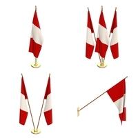 Peru Flag Pack 3D Model
