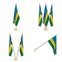 Rwanda Flag Pack 3D Model