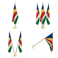 Seychelles Flag Pack 3D Model