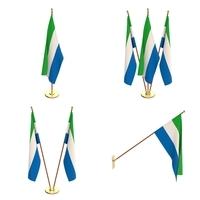 Sierra Leone Flag Pack 3D Model