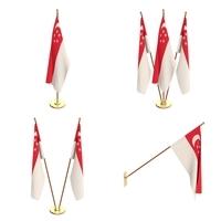 Singapore Flag Pack 3D Model