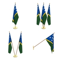 Solomon Islands Flag Pack 3D Model