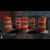 22 07 20 942 3d orange traffic drum barrier 08 4