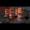 22 07 22 932 3d orange traffic drum barrier 04 4