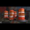 22 07 25 184 3d orange traffic drum barrier 01 4