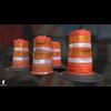 22 07 26 7 3d orange traffic drum barrier 06 4