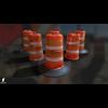 22 07 27 506 3d orange traffic drum barrier 07 4