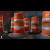 22 07 27 95 3d orange traffic drum barrier 03 4