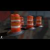 22 07 30 146 clean 3d orange traffic drum barrier 4
