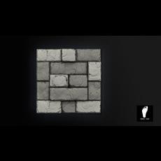 Tileable 3D Stone Floor Tiles 3D Model