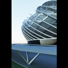 Futuristic sports stadium 09 3D Model