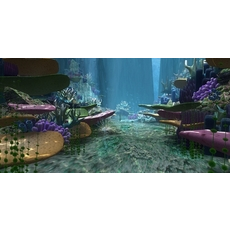 Underwater world of coral and aquatic plants animated 011 3D Model