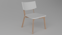 Chair White Askvoll 3D Model