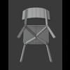 00 10 30 230 cadeira branca askvol wireframe 3 4